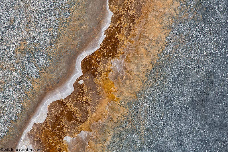 Aerial view of lake shore made up of sodium compounds, Lake Natron, Tanzania, Canon 5D MK3, Canon 24-105mm, f4 IS lens @105mm, handheld, 1/2,000 sec, f4, ISO 400, AV at 0