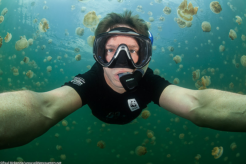 Selfie at 10m, Jellyfish Lake, Palau, Micronesia