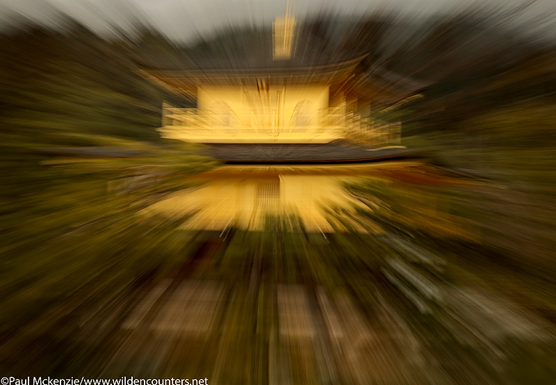 45. Zoom blur of Kinkaku-ji temple, Kyoto, Japan