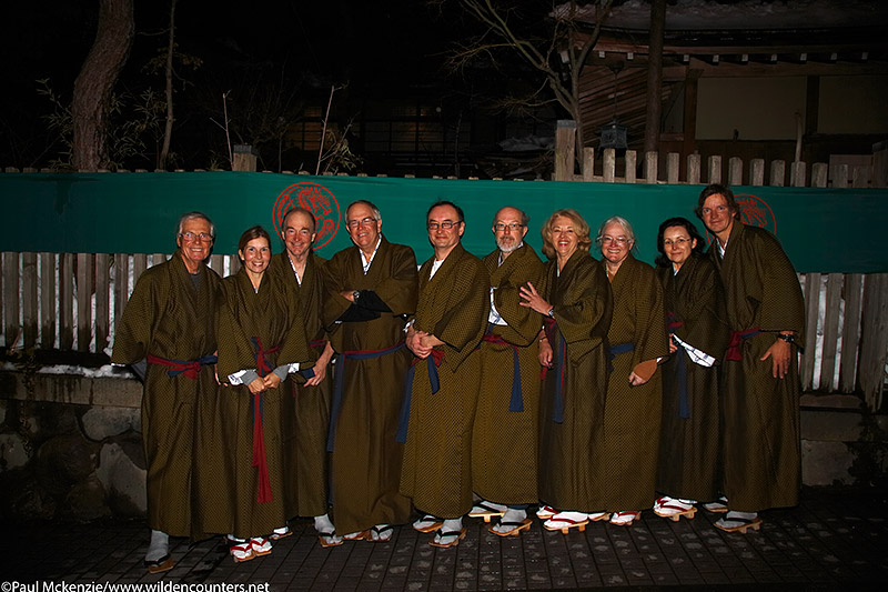 51. The group in Japanese evening wear, Yudanaka, Japan